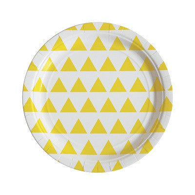 Yellow Triangle Plates (8 pack)