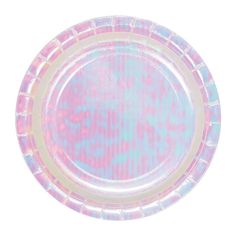 Iridescent Plates (8 pack)