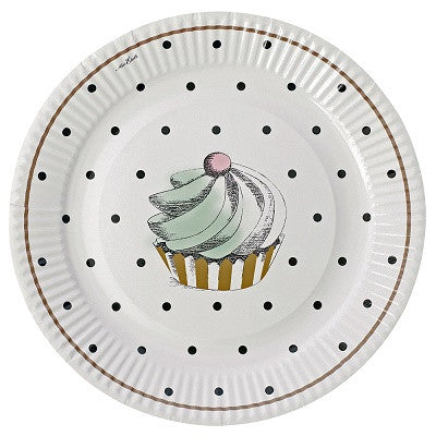 Cake & Dots Plates (8 pack)