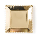 Gold Square Large Plates (12 pack)