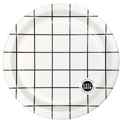 Black Grid Plates (10 pack)