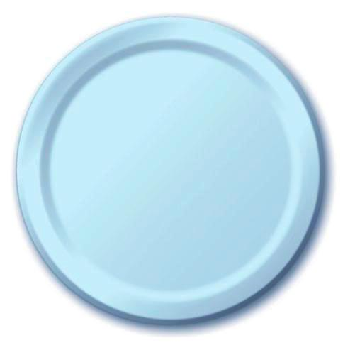 Pale Blue Plates (24 pack)