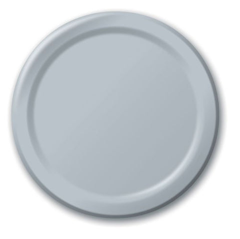 Shimmering Silver Plates (24 pack)