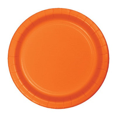 Sunkissed Orange Plates (24 bulk pack)