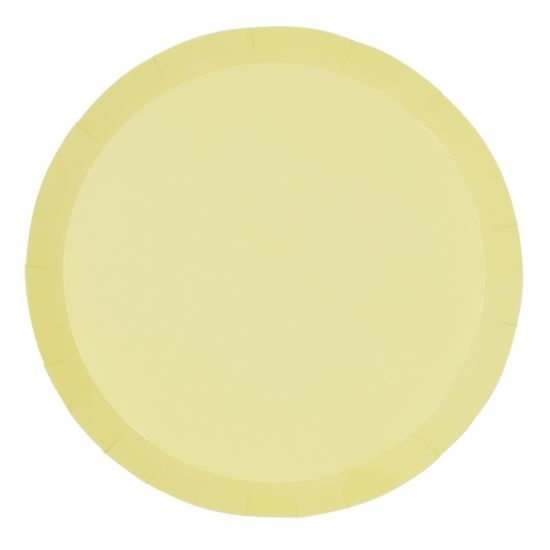 Pastel Yellow Dinner Plates (10 pack)