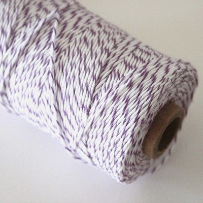 Purple & White Bakers Twine (100m)