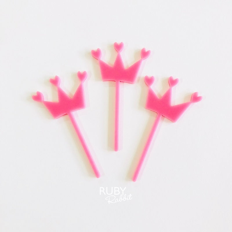 Mini Queen Of Hearts Cake Toppers 3 Pack Ruby Rabbit