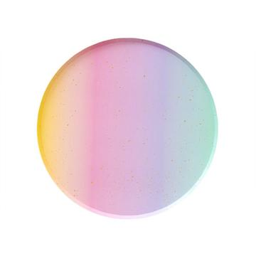 Rainbow Ombre Dessert Plates (8 pack)