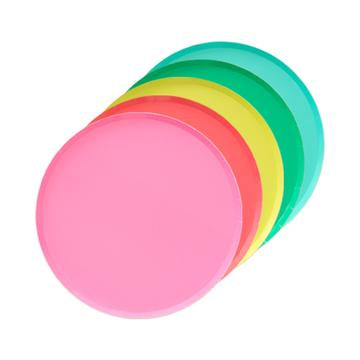 Rainbow Assorted Plates (8 pack)