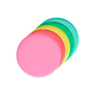 Rainbow Assorted Dessert Plates (8 pack)