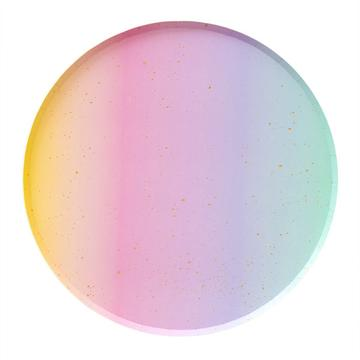 Rainbow Ombre Plates (8 pack)