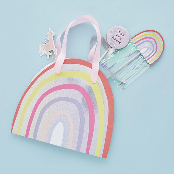 Rainbow Party Favour Bags (5 pack)