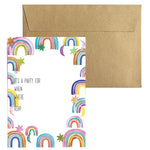 Rainbow Party Invitations (10 pack)