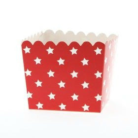 Red Star Scallop Favour Boxes (6 pack)