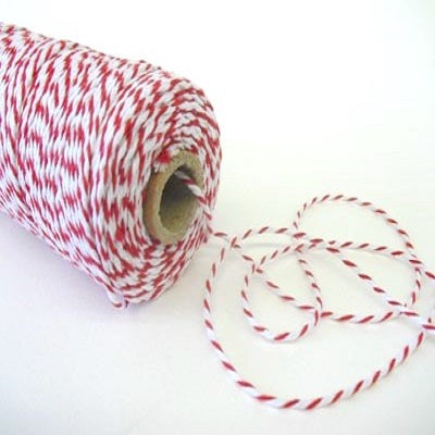 Red & White Bakers Twine (100m)