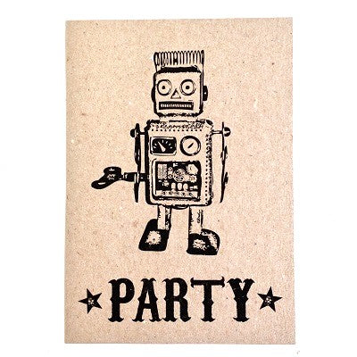 Robot Party Invitations (10 pack)