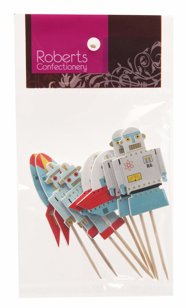 Robot Cupcake Toppers (8 pack)