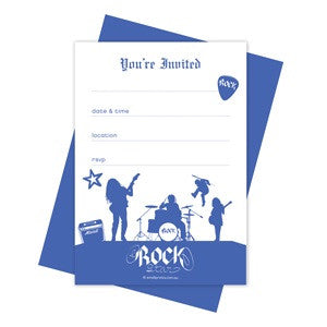 Rock On Party Invitations (10 pack)