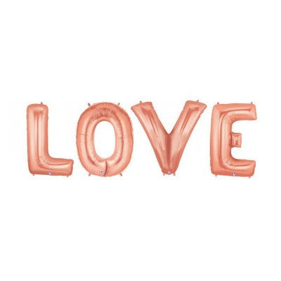 Rose Gold Giant 'LOVE' Balloons