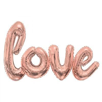 Rose Gold Giant 'LOVE' Script Balloons