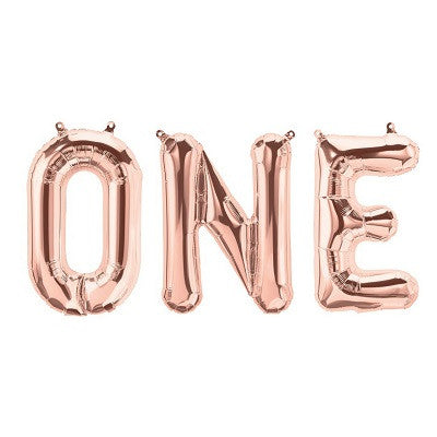 Rose Gold 'ONE' Balloons