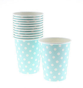 Pale Blue Dot Cups (12 pack)