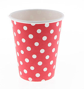 Red Polka Dot Cups (12 pack)