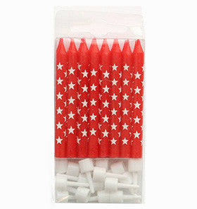 Red Stars Candles (16 pack)