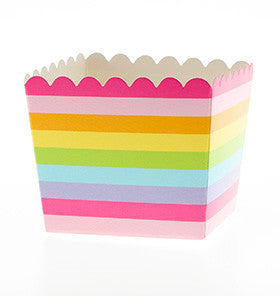 Rainbow Scallop Favour Boxes (6 pack)