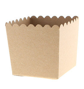 Kraft Scallop Favour Boxes (6 pack)