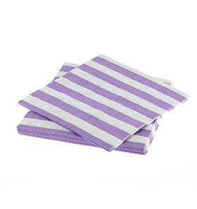 Lavender Striped Paper Napkins (20 pack)