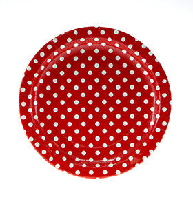 Red Polka Dot Plates (12 pack)