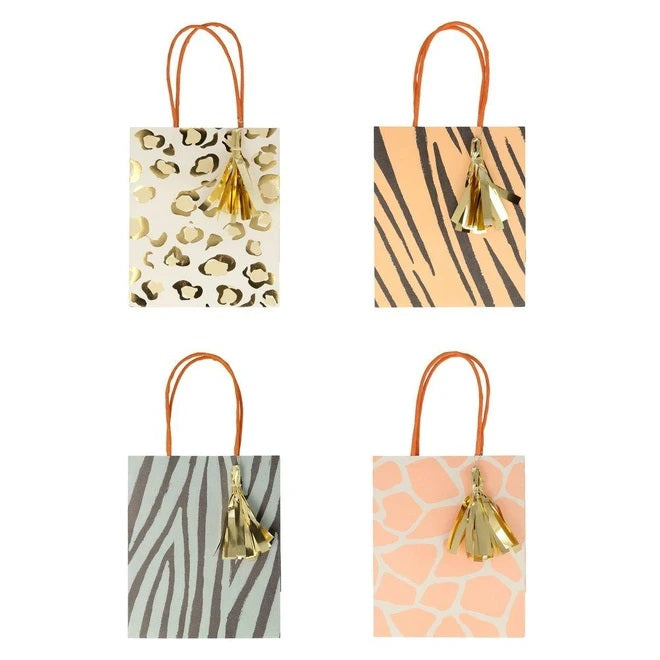 Safari Animal Print Party Bags (8 pack)