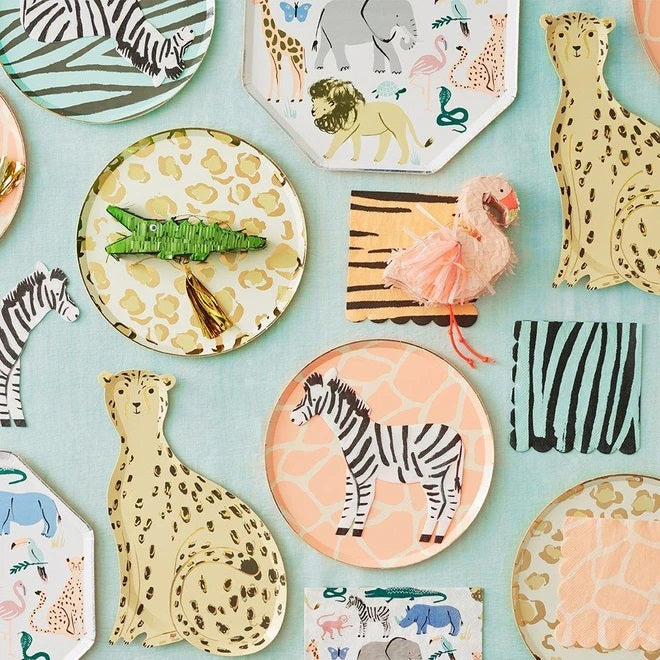 Safari Animal Print Party Hats (8 pack)