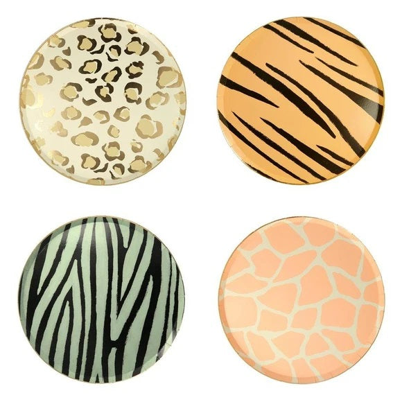Safari Animal Print Plates (8 pack)