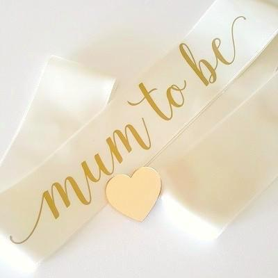 Ivory Mum To Be Sash