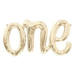White Gold 'ONE' Script Balloon