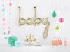 White Gold 'BABY' Script Balloon