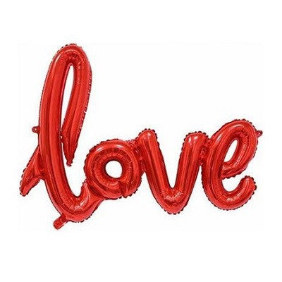 Red 'LOVE' Script Balloon