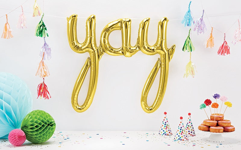 Gold 'YAY' Script Balloon