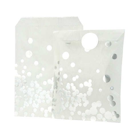 Silver Dot Treat Bags (8 pack)