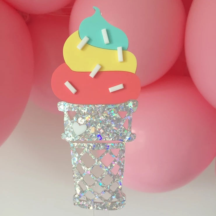 Deluxe Soft Serve Cake Topper