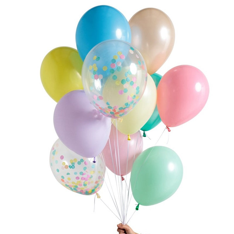 Pastel Rainbow Balloon Set (12 pack)