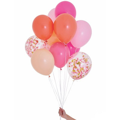 Pink Shimmer Balloon Set (12 pack)