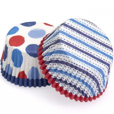 Stripes & Dots Cupcake Cases (24 pack)