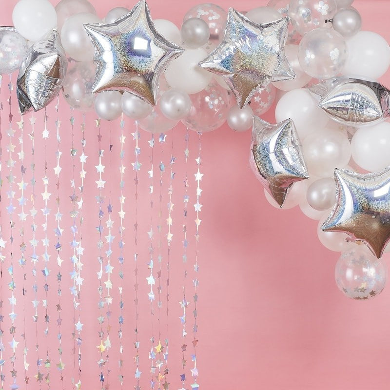 Iridescent Star Balloon Garland
