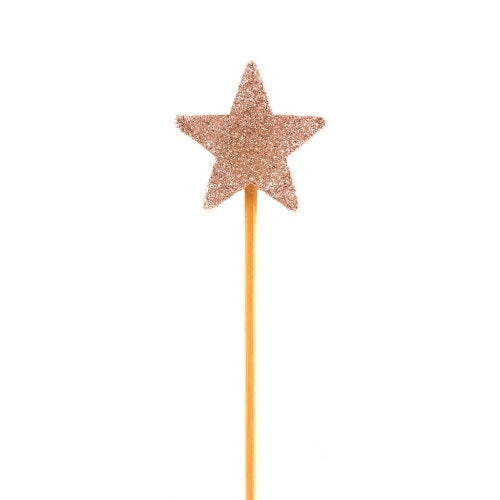 Rose Gold Glitter Star Candle