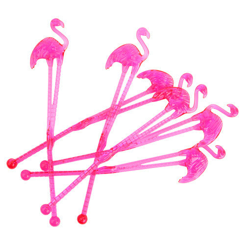Flamingo Drink Stirrers (12 pack)