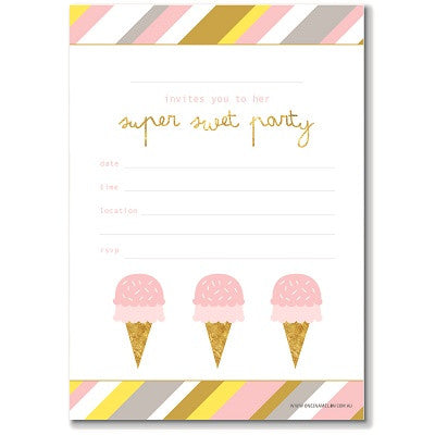 Super Sweet Invitations (10 pack)