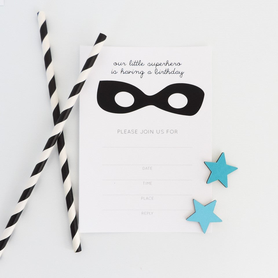 Superhero Invitations (10 pack)